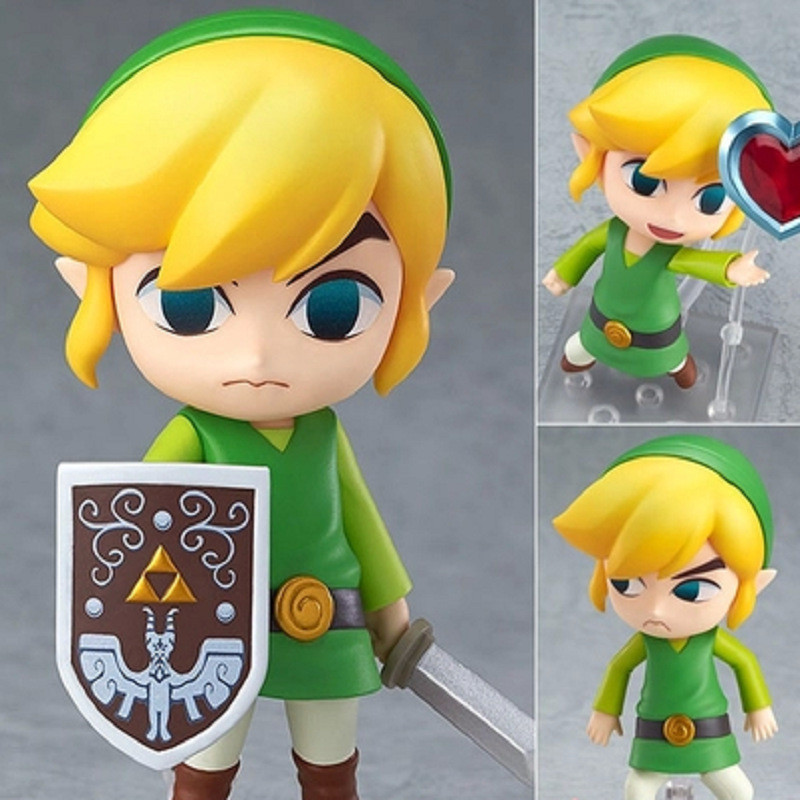 1pc/lot Cute Nendoroid The Legend of Zelda Q Version Zelda Link PVC Figma Action Figure Collectible Model Toy Retail Box 10cm<br>