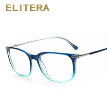 ELITERA 2017 New Retro Brand Designer Fashion Plain Glasses Optical Frame Clear Lens Spectacle Eye glasses Frame Gafas(China)