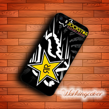 Coque Black Fox Racing Rockstar Case for iPhone X 8 7 6S 6 5S SE 5 5C 4S 4 Plus Case Cover for iPod Touch 6 5 Case.(China)