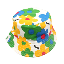 1 Pc Baby Kids Boys Girls Sun Hats Toddler Infant Lovely Spring Summer Canvas Caps Newborns Print Bucket Hat Unisex Fishing Cap
