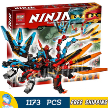 1173pcs Ninja New 10584 Dragon's Forge DIY Model Building Kit Blocks Gifts Toys Compatible With lego