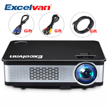 Excelvan Z720 1280*768 3300 Lumens Multimedia Projector 1080P With HDMI VGA USB*2 AV Interface For Home Game Outdoor Metal Shell(China)