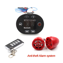 Motorcycle Radio Audio Sound Anti-theft Alarm system, 12V Mp3 Stereo Audio Motorcycle Speaker