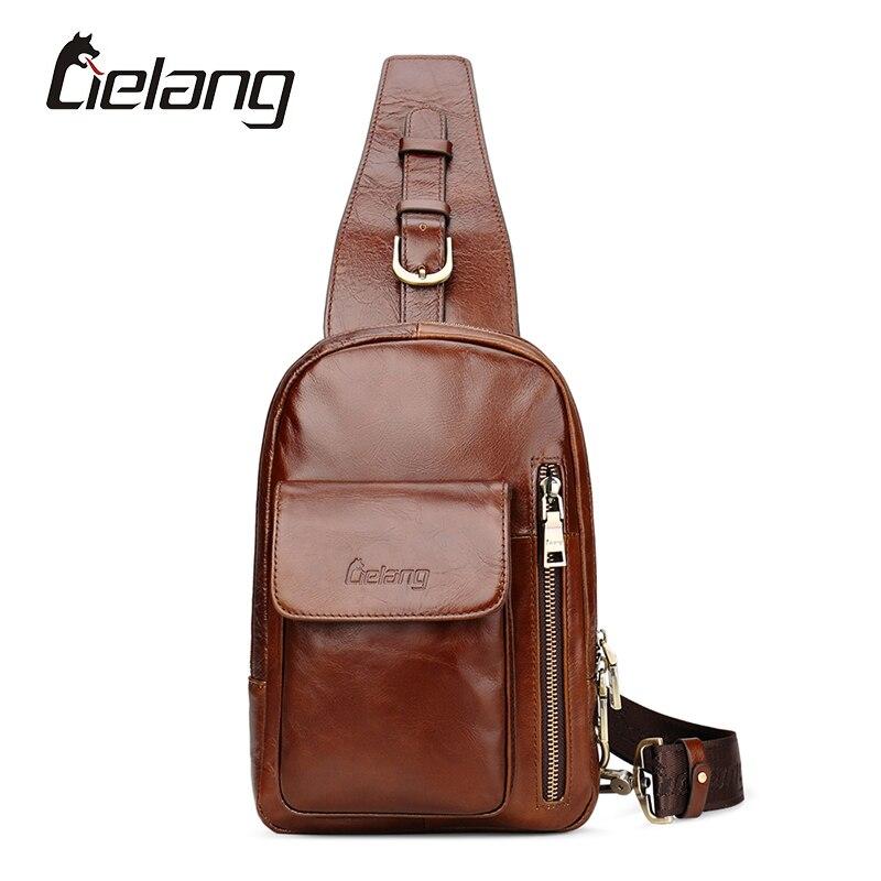 LIELANG Brand New Bag Men Chest Pack Small Travel Bags Genuine Leather Mens Crossbody Bag Vintage Mens Shoulder Strap Bags<br><br>Aliexpress