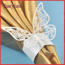50X Butterfly Napkin Ring,  Laser Cut Wedding Decorations towel Napkin Ring for Party Decoration, Wedding Favors, Table Decor
