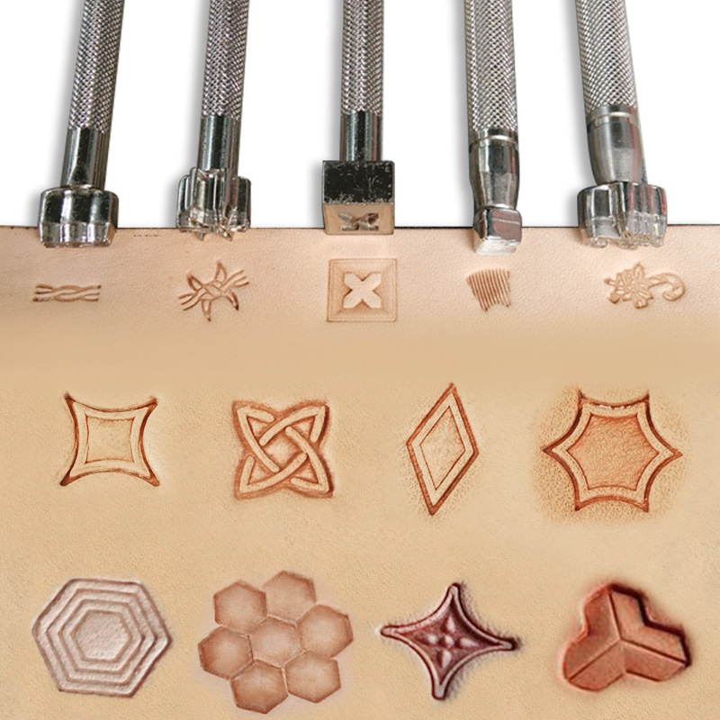Stainless Steel  leather craft Geometric Decorative pattern Stamp Tool 9mm