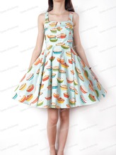 0176-1950s pinup Hepburn Audrey retro vintage rockabilly Classy halter dress in cake