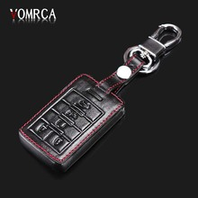 Suitable for Cadillac High Quality Leather Keychain Remote Control Box 5 Button Car Remote Key Cover starline a91 starline a93