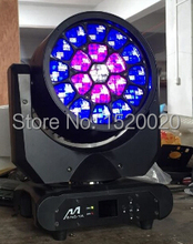 4pcs/lot +flight case beam light led RGBW 4in1 big bee eyes led moving head beam lights stage washer night club lighting