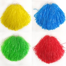 cheerleading Pom Poms School Soccer Cheering leader pompons team Metallic pom pom football Cheerleader Game poms,200g,1-12pcs,PE