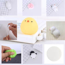GLSHST Mobile Phone Case Accessories Parts Lovely 3D Squishy Slow Rising DIY Silicone Pop Holder Gadgets Squishy Hand Rising Cat