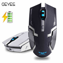 Buy New 2.4GHz Wireless Rechargeable Silent Mute USB Optical Ergonomic Gaming Mouse Gamer LED Backlit PC Laptop Desktop Computer for $8.99 in AliExpress store