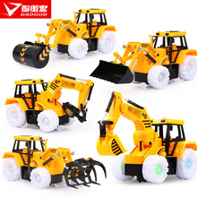 Wholesale Electric Engineering Truck Excavator Universal Music Simulation Sound Large Push Soil Children's Toys Factory Direct