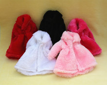 12 Colors High Quality Fashion Handmade Clothes Dresses Grows Outfit Flannel coat for Barbie Doll dress for girls best gift(China)