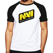 New fashion men t-shirt dota 2 clothes Natus Vincere Team logo geek T shirt summer cotton drake brand clothing(China)