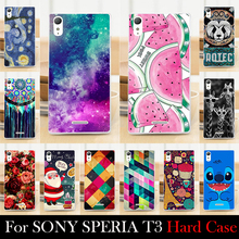 For SONY Ericsson Xperia T3 D5103 D5106 Case Hard Plastic 5.3 inch Cellphone Mask Case Protective Cover Housing Skin Mask