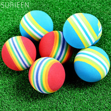 10PCS/lot EVA Golf Sponge Soft Rainbow Balls 42mm Golf Swing Training Balls Sponge Foam Golfer/ Tennis Practice Balls RED/ BLUE
