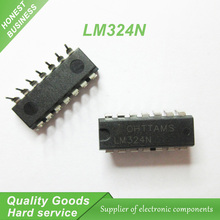 10pcs LM324N LM324 DIP-14 Operational Amplifiers - Op Amps Quad Operational Amp new original(China)