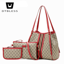 Buy 3 set women handbag large tote bag shoulder crossbody bag Lady Messenger Bags Designer Soft Tote girls D308-1 for $22.90 in AliExpress store