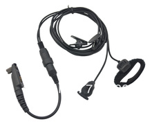 Freeship M328+ Plug 2-wired PRO Ear vibration w/cable control & MIC for Motorola GP344 GP388 GP328Plus  GP338Plus walkie talkie