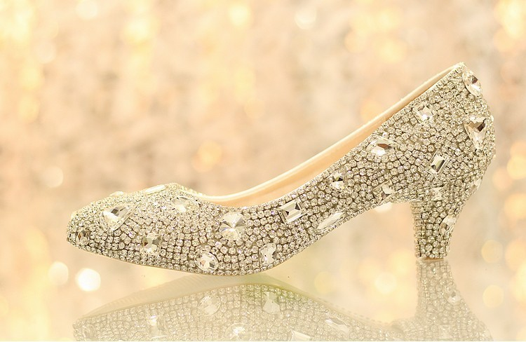 Luxury 5cm Middle Heel Lady Formal Dress Shoes Girl Wedding Dress Shoes Bridal Shoes Evening Anniversary Party Shoes<br><br>Aliexpress
