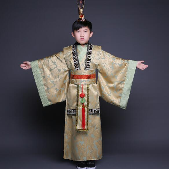 2017 summer china emperor costume for boys chinese emperor cosplay clothing han fu for children han dynasty costumes<br>
