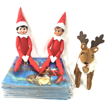 20pcs/lot DHL/EMS/UPS express shipping 35CM Elf Dolls The Elf On The Shelf Soft Books Elf Plush Dolls Christmas Kid Xmas Gift(China)