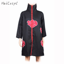 Akatsuki Cosplay Costume Anime Naruto Costume Uchiha Itachi Cloak Deidara Black Cape Show Party Clothing For Man Adult Coo