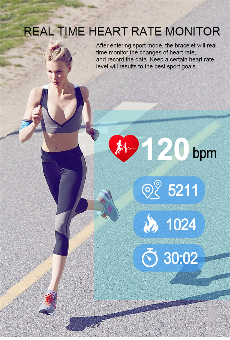 Activity Tracker with Blood Pressure Watch 6