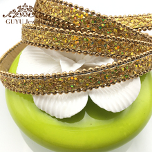 GUFEATHER Diy 1 cm Beads Sequins PU leather cord/jewelry accessories/jewelry findings/jewelry materials