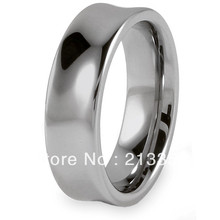 Buy Cheap Discount Price USA HOT Selling 7MM Men&Womens Silver Concave Polished ShinyTungsten Wedding Rings - Top Fine Jewelry World ( and retail jewelry store store)