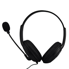 2016 New Fashion Hot Selling protable xbox360 Wired Gaming Chat dual Headset Headphone Microphone for xbox 360 computer Black