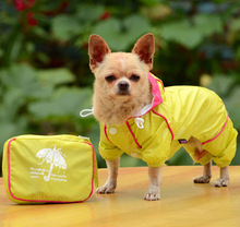 Big SALE Double layer dog raincoat clothes for small dogs waterproof pet raincoat rainsuit jumpsuit cheap price xs-xl(China)