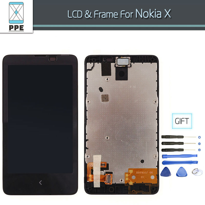 LCD dipaly with Touch screen Digitizer Assembly For Nokia X Complete Replacement 100% Tested 4 inch+Tools<br><br>Aliexpress