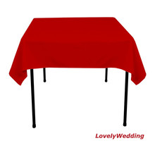 Square polyester wedding table clothes/table cover table linens for banquet party decoration 10pcs/lot size 1.5mx1.5m