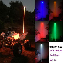 Led Safety Flag Light Sand Dunes Fiber Optic Light Laser LED Pole Light Warning Sand Flag Light Led Antenna with Quick Disconnet