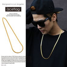 iftec New His And Hers Hip Hop Necklace Miami Cuban Link Chain Solid Gold color Jewelry Bijoux Colliers Women 2016 N258
