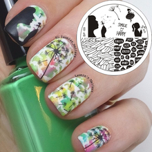 1 Pc New Trend Girl Dandelion Theme Nail Art Stamping Stamp Template Image Plate BORN PRETTY Stamp Plate BP69