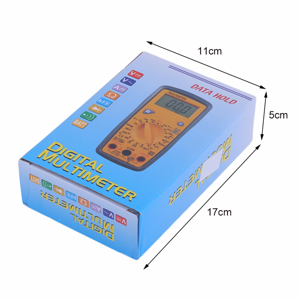 Portable DT321B Digital Multimeter AC//DC Voltage Meter with Blue Backlight z