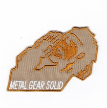 Tan Metal Gear Solid MGS FOX HOUND Special Force Group Hound Head Tribute Embroidered patch B2080