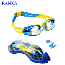 Kids Swimming Goggles ,Anti-Fog UV Protection No Leaking Coated Lens Swim Glasses with Case,Nose Clip,Earplugs for Boys Girls(China)