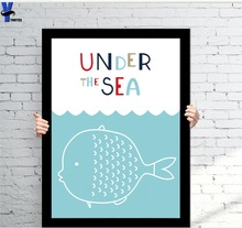 picture Marine Animals Posters And Prints Wall Art Canvas Painting Wall Pictures For Kids Room Nordic Home decoration decor