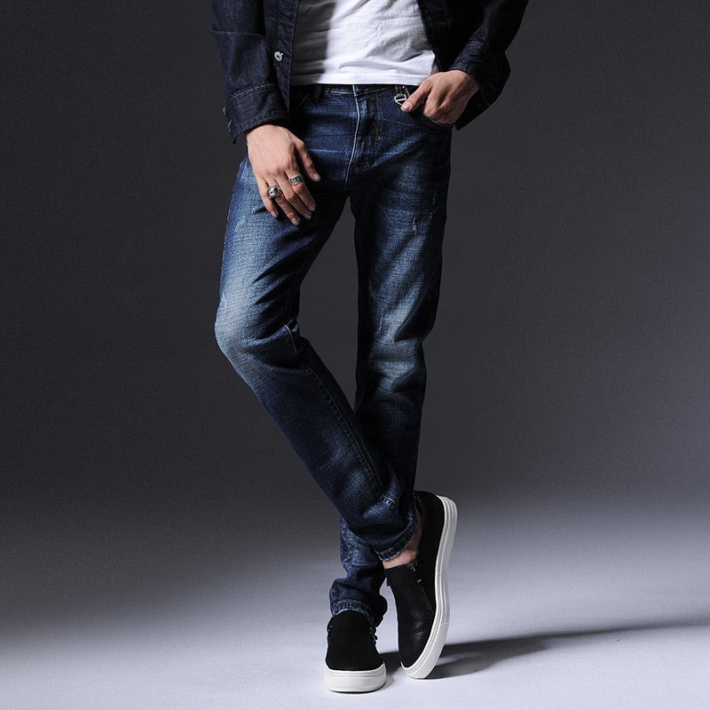 2017 autumn and winter new stretch jeans men Korean Slim was thin elastic pants men tide jeansОдежда и ак�е��уары<br><br><br>Aliexpress