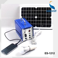 Saip/Saipwell High Quality 12V Portable Solar System Generator,Solar Power System Without Battery(ES-1212)(China)
