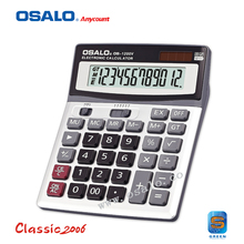 OS-1200V Large LCD Screen 12 Digits Electronic Solar Desktop Calculator Multi-function Auto Power Off Dual Power Calculadora