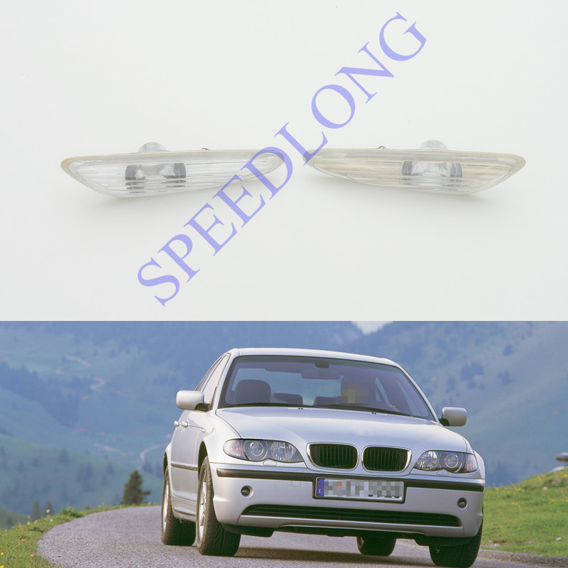 2 Pcs/Pair without bulbs RH and LH turning lamps Fender side marker lights for BMW 3 Series E46 New Model 2001-2004<br>