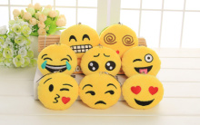 Bulk 500PCS UP 8Models MIX Emojis 6CM Stuffed Plush TOY DOLL , Cheap Novelty Plush Decor Toy FOR Wedding Bouquet Gift
