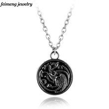 New Statementnecklace Vintage Song of Ice and Fire Game of Thrones Targaryen Dragon Necklace Movie Jewelry
