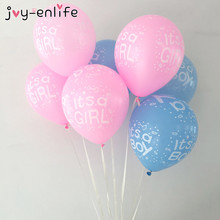 "JOY-ENLIFE 10pcs/lot 12 Inch ""Its a Boy"" ""Its a Girl"" Latex Balloons For Baby Shower Party Kid's Birthady Decoration Supplies"
