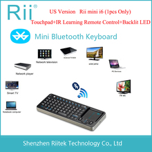 Rii mini i6 k06 Bluetooth Keyboard IR Learning Remote Control Backlit LED Touchpad Teclado for PC Tablet Andorid/Smart TV Box(China)